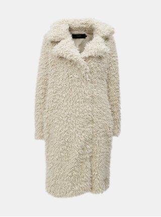 Krémový kabát z umělé kožešiny VERO MODA