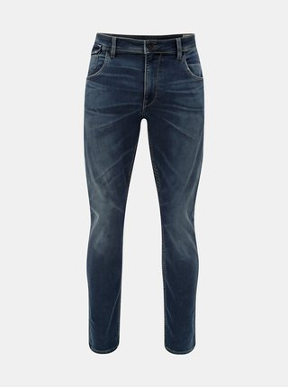 Blugi barbatesti albastri tapered fit din denim Garcia Jeans