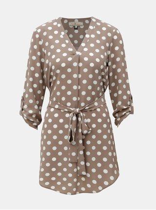 Šedohnědá puntíkovaná tunika Billie & Blossom