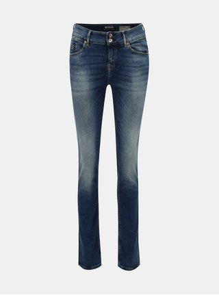 Modré dámské slim fit džíny s vyšisovaným efektem Garcia Jeans