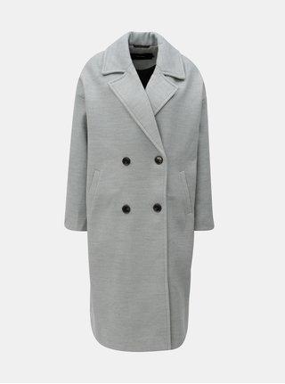 Sivý melírovaný kabát VERO MODA