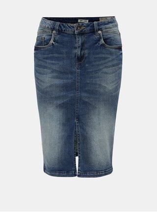 Modrá rifľová sukňa s rozparkom Garcia Jeans