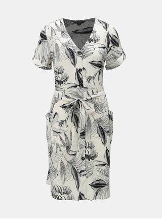 Černo-krémové vzorované košilové šaty Dorothy Perkins