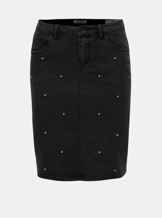 Čierna rifľová sukňa Garcia Jeans