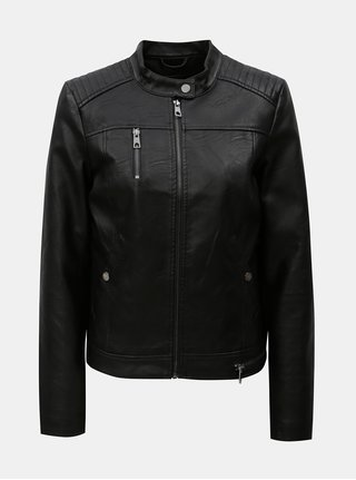 Čierna koženková bunda VERO MODA