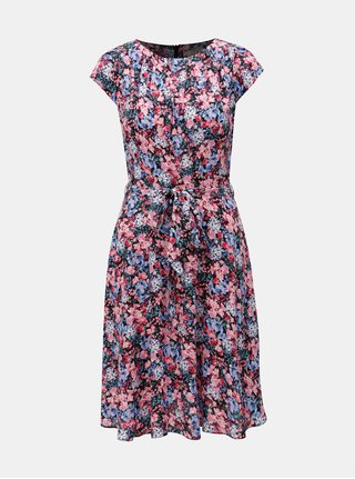 Rochie negru-roz florala Billie & Blossom