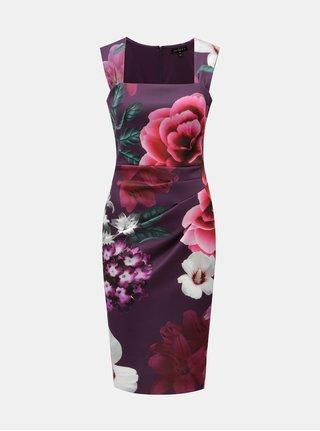 Fialové květované šaty Scarlett B