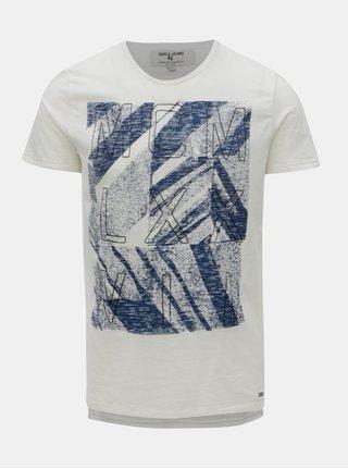 Krémové pánské tričko s potiskem Garcia Jeans