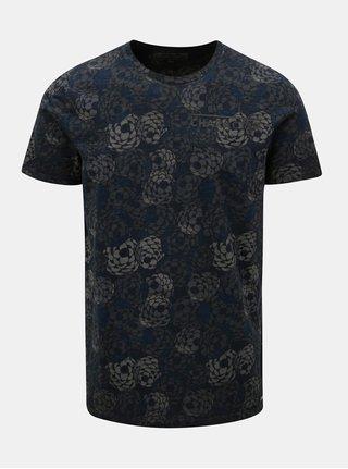 Tmavě šedé pánské vzorované tričko Garcia Jeans