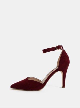 Sandale visinii din textil cu aspect de piele intoarsa Dorothy Perkins Georgia