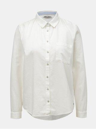 Biela dámska košeľa s náprsným vreckom Garcia Jeans
