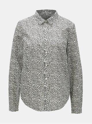 Čierno-biela dámska bodkovaná košeľa Garcia Jeans