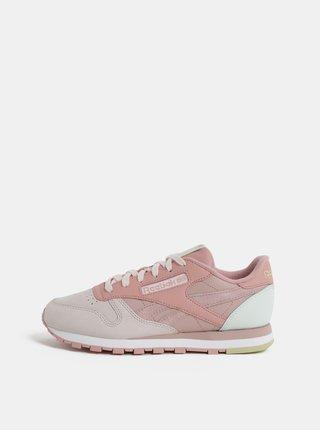Tenisi de dama roz din piele Reebok