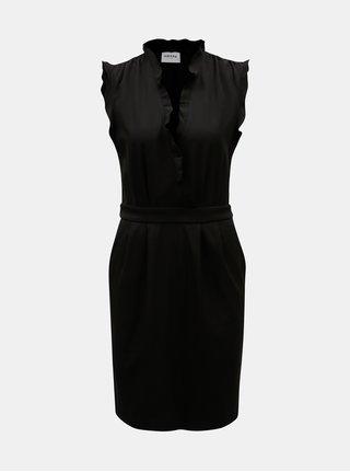 Černé šaty s hlubokým překládaným výstřihem VERO MODA AWARE