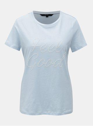 Svetlomodré tričko s aplikáciou VERO MODA