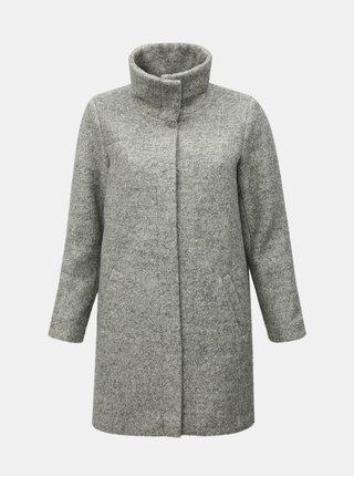 Pardesiu de iarna gri deschis cu amestec de lana Zizzi