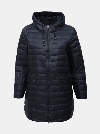 Tmavě modrý prošívaný kabát Zizzi