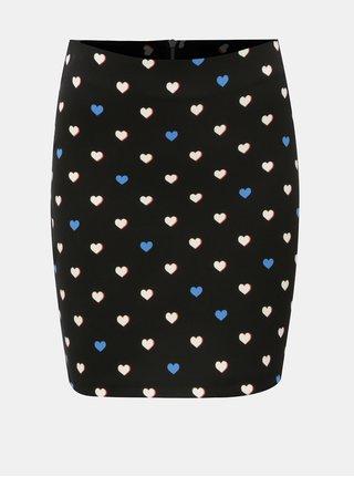 Čierna vzorovaná puzdrová sukňa Dorothy Perkins