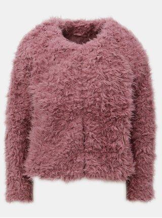 Tmavoružový krátky kabát Jacqueline de Yong