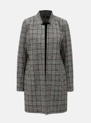 Šedý lehký károvaný kabát ONLY