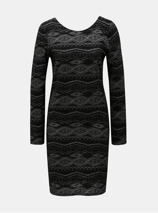 Čierne puzdrové vzorované šaty ONLY