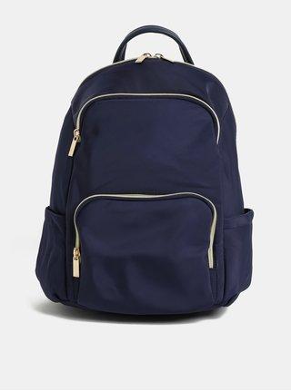 Tmavě modrý batoh se zipy ve zlaté barvě ZOOT