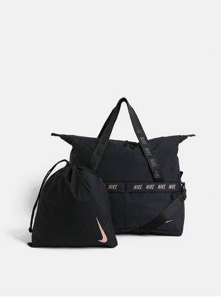 Černá dámská sportovní taška s vakem na boty Nike 31 l