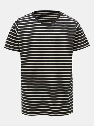 Tmavomodré pruhované tričko SUIT Beagle