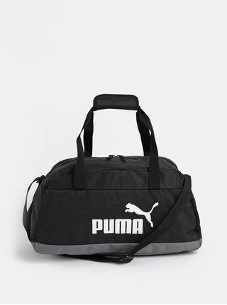 Čierna športová taška s potlačou Puma