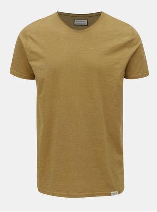 Horčicové basic tričko s krátkym rukávom Shine Original