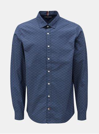 Tmavomodrá vzorovaná regular fit košeľa Tommy Hilfiger Printed