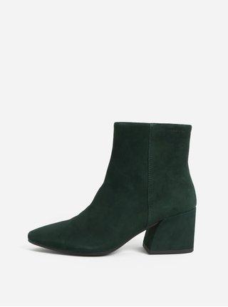 Zelené dámské semišové kotníkové boty Vagabond Olivia