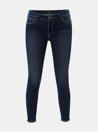 Modré dámské zkrácené skinny džíny s nízkým pasem Lee