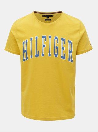 Žlté pánske tričko s potlačou Tommy Hilfiger