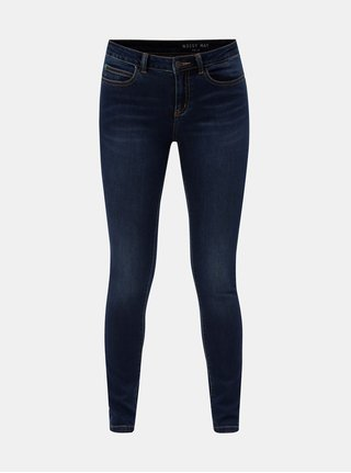 Blugi albastru inchis slim fit din denim Noisy May Lucy