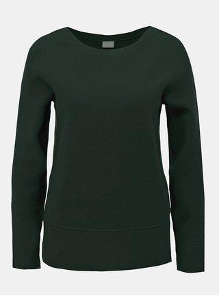 Tmavě zelený svetr s dlouhým rukávem VILA Livina