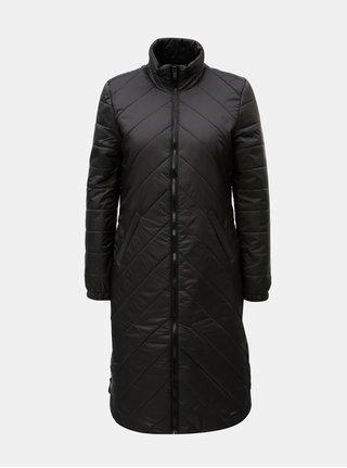 Čierny prešívaný kabát so zipsmi na bokoch Noisy May