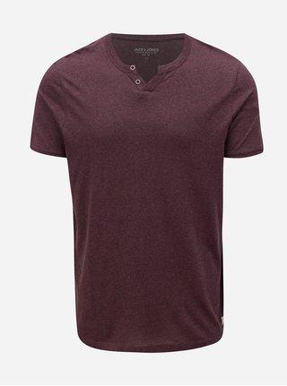 Vínové melírované tričko s krátkym rukávom Jack & Jones Ranco Tee