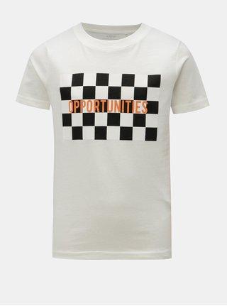 Krémové klučičí tričko s potiskem LIMITED by name it