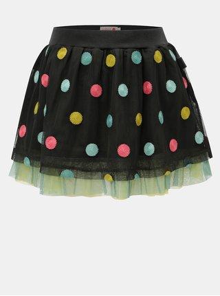 Tmavě šedá puntíkovaná sukně BÓBOLI