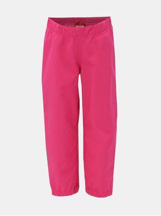 Tmavě růžové holčičí funkční softshellové nepromokavé kalhoty Reima Oikotie