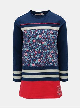 Červeno-modré kvetované šaty BÓBOLI
