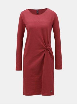 Tehlové šaty s uzlom Tranquillo Feronia