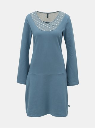 Rochie albastra cu maneci lungi Tranquillo Sasthi