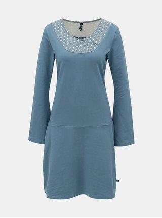 Modré šaty s dlhým rukávom Tranquillo Sasthi