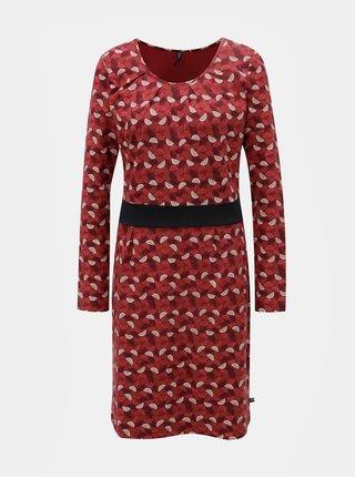 Červené vzorované šaty Tranquillo Beda