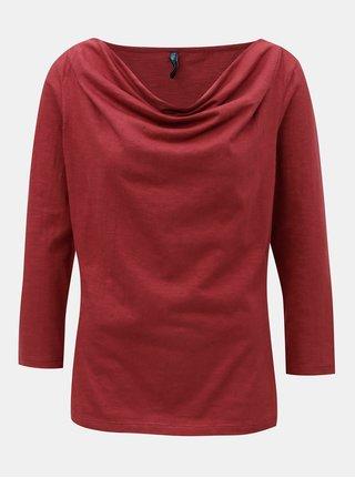 Červené tričko s řasením ve výstřihu Tranquillo Bellona