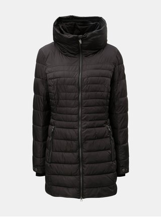 Černá dámská prošívaná dlouhá bunda killtec