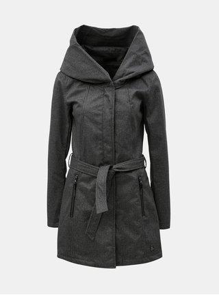 Tmavosivý dámsky nepremokavý kabát s veľkou kapucňou killtec