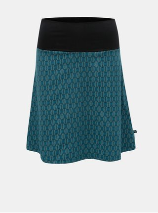 Petrolejová vzorovaná sukňa Tranquillo Cama